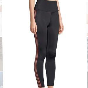 Beyond Yoga Lux Bloom Tuxedo Stripe Midi Leggings